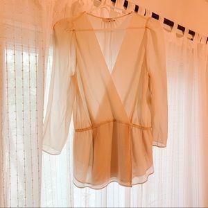 Babaton 100% silk blouse